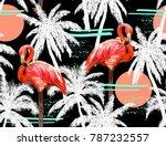 beautiful seamless vector...   Shutterstock .eps vector #787232557