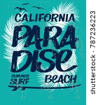 vector design. surf typography... | Shutterstock .eps vector #787236223