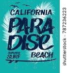 vector design. surf typography... | Shutterstock .eps vector #787236223
