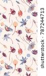 bright vector botanical... | Shutterstock .eps vector #787244713