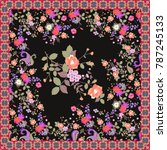 floral shawl with beautiful... | Shutterstock . vector #787245133