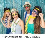 multi ethnic group of brazilian ... | Shutterstock . vector #787248337