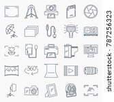 photography icons set.... | Shutterstock .eps vector #787256323