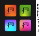 grammar class teacher teaching...   Shutterstock .eps vector #787257277