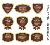 seal badges and labels quality... | Shutterstock .eps vector #787287433