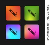 cigar four color gradient app... | Shutterstock .eps vector #787287553