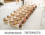 delicious sweets on wedding... | Shutterstock . vector #787294273
