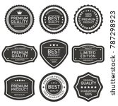 vector label quality on pack | Shutterstock vector #787298923