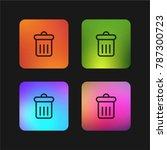 delete button four color... | Shutterstock .eps vector #787300723