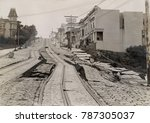 union street car line after the ... | Shutterstock . vector #787305037