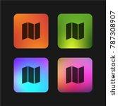 folding map four color gradient ... | Shutterstock .eps vector #787308907