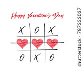 tic tac toe game with criss... | Shutterstock .eps vector #787323037