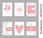 valentine day concept design... | Shutterstock .eps vector #787325713