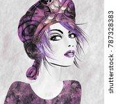 art monochrome lilac and purple ...   Shutterstock . vector #787328383