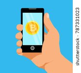 bitcoin digital crypto currency ... | Shutterstock .eps vector #787331023