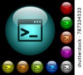 command prompt icons in color... | Shutterstock .eps vector #787334533
