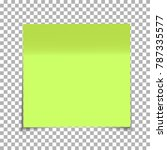 office green paper sticky note... | Shutterstock .eps vector #787335577