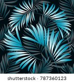 pattern of tropical palm ... | Shutterstock .eps vector #787360123