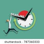 freelance programmer struggling ... | Shutterstock .eps vector #787360333