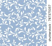 delicate floral pattern. lacy... | Shutterstock .eps vector #787375357