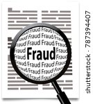 searching for fraud  magnifying ... | Shutterstock .eps vector #787394407