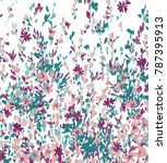 Stock vector abstract floral pattern in vector 787395913