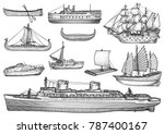 ship  boat illustration ... | Shutterstock .eps vector #787400167