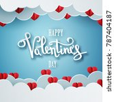 happy valentines day vector... | Shutterstock .eps vector #787404187