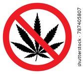 cannabis forbidden vector file | Shutterstock .eps vector #787405807