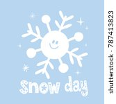 snow day   winter design with... | Shutterstock .eps vector #787413823