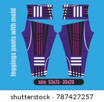 leggings pants fashion... | Shutterstock .eps vector #787427257