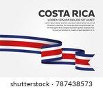costa rica flag background | Shutterstock .eps vector #787438573