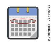 calendar day icon. flat...