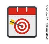 calendar target icon. flat...