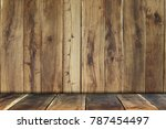wood panel background  natural... | Shutterstock . vector #787454497