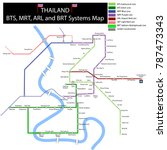 underground map mrt bts bangkok ... | Shutterstock .eps vector #787473343