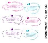 quote box bubble speech...   Shutterstock .eps vector #787485733