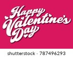 a happy valentine's day message ... | Shutterstock .eps vector #787496293