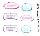 bubble speech quote box set... | Shutterstock .eps vector #787517497