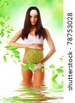 healthy eco woman in water with ... | Shutterstock . vector #78753028