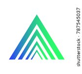 triangle a letter logo template ... | Shutterstock .eps vector #787545037