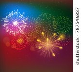 brightly colorful firework...   Shutterstock .eps vector #787546837