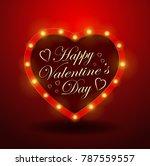 valentine s day background.... | Shutterstock . vector #787559557