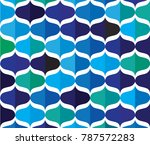 colorful curve abstract... | Shutterstock .eps vector #787572283