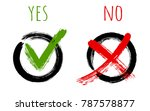 yes and no approve and reject ... | Shutterstock .eps vector #787578877