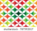 colorful curve abstract... | Shutterstock .eps vector #787592017