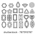 set of diamonds  precious... | Shutterstock .eps vector #787593787