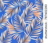seamless pattern of a tropical... | Shutterstock .eps vector #787602283