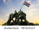 statue of indian soldiers... | Shutterstock . vector #787615117