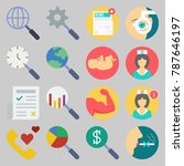icon set about medical. with... | Shutterstock .eps vector #787646197